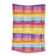 Background Line Rainbow Small Tapestry