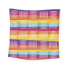 Background Line Rainbow Square Tapestry (Small)