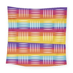 Background Line Rainbow Square Tapestry (Large)