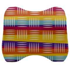Background Line Rainbow Velour Head Support Cushion