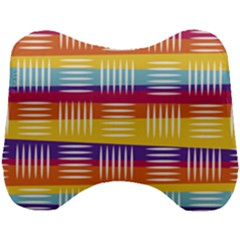 Background Line Rainbow Head Support Cushion