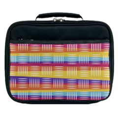Background Line Rainbow Lunch Bag
