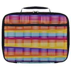 Background Line Rainbow Full Print Lunch Bag
