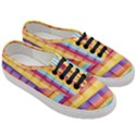 Background Line Rainbow Women s Classic Low Top Sneakers View3
