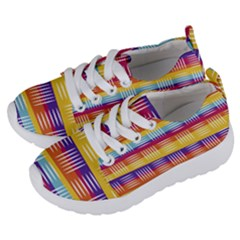 Background Line Rainbow Kids  Lightweight Sports Shoes