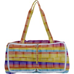 Background Line Rainbow Multi Function Bag