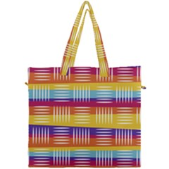 Background Line Rainbow Canvas Travel Bag