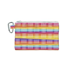 Background Line Rainbow Canvas Cosmetic Bag (Small)