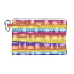 Background Line Rainbow Canvas Cosmetic Bag (Large)