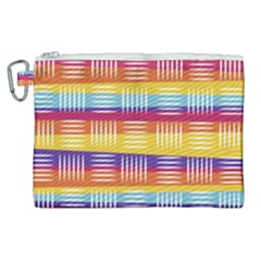 Background Line Rainbow Canvas Cosmetic Bag (XL)