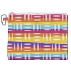 Background Line Rainbow Canvas Cosmetic Bag (XXL)