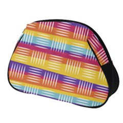 Background Line Rainbow Full Print Accessory Pouch (Small)