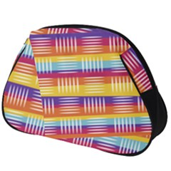 Background Line Rainbow Full Print Accessory Pouch (Big)
