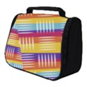 Background Line Rainbow Full Print Travel Pouch (Small) View1