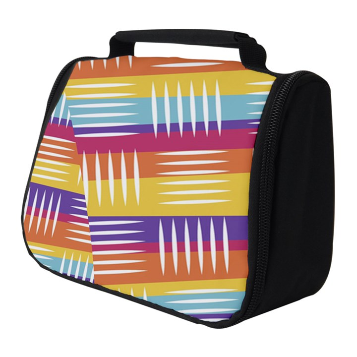 Background Line Rainbow Full Print Travel Pouch (Small)