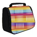 Background Line Rainbow Full Print Travel Pouch (Small) View2