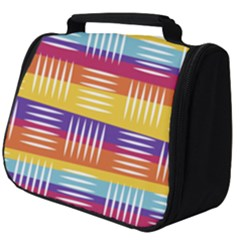 Background Line Rainbow Full Print Travel Pouch (Big)