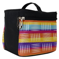 Background Line Rainbow Make Up Travel Bag (Small)