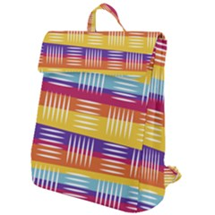 Background Line Rainbow Flap Top Backpack