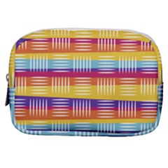 Background Line Rainbow Make Up Pouch (Small)