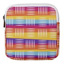 Background Line Rainbow Mini Square Pouch