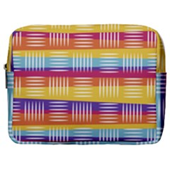 Background Line Rainbow Make Up Pouch (Large)