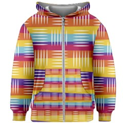 Background Line Rainbow Kids  Zipper Hoodie Without Drawstring