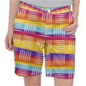 Background Line Rainbow Pocket Shorts View1