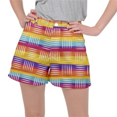 Background Line Rainbow Ripstop Shorts