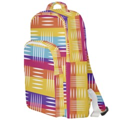 Background Line Rainbow Double Compartment Backpack