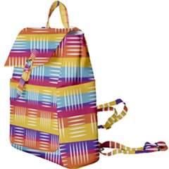 Background Line Rainbow Buckle Everyday Backpack