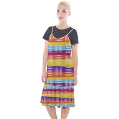 Background Line Rainbow Camis Fishtail Dress