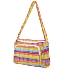Background Line Rainbow Front Pocket Crossbody Bag