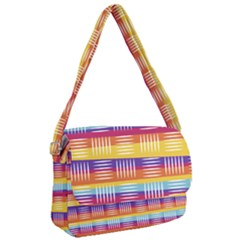Background Line Rainbow Courier Bag
