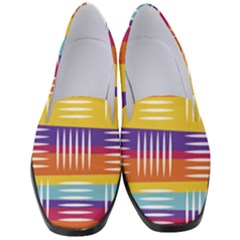 Background Line Rainbow Women s Classic Loafer Heels