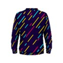Background Lines Forms Kids  Sweatshirt View2