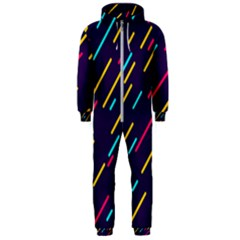 Background Lines Forms Hooded Jumpsuit (men)