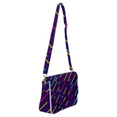Background Lines Forms Shoulder Bag With Back Zipper