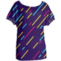 Background Lines Forms Women s Oversized Tee View1