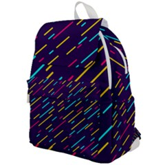 Background Lines Forms Top Flap Backpack