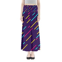 Background Lines Forms Full Length Maxi Skirt by HermanTelo