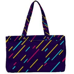 Background Lines Forms Canvas Work Bag