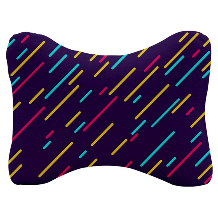 Background Lines Forms Velour Seat Head Rest Cushion