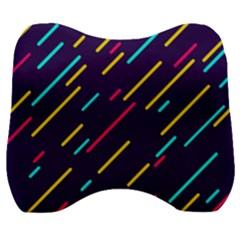 Background Lines Forms Velour Head Support Cushion