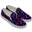 Background Lines Forms Men s Canvas Slip Ons View3