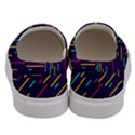 Background Lines Forms Men s Canvas Slip Ons View4