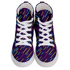 Background Lines Forms Women s Hi Top Skate Sneakers