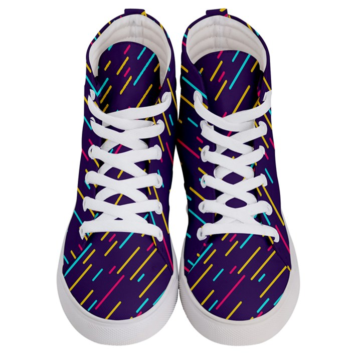 Background Lines Forms Women s Hi-Top Skate Sneakers
