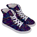 Background Lines Forms Women s Hi-Top Skate Sneakers View3