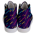 Background Lines Forms Women s Hi-Top Skate Sneakers View4